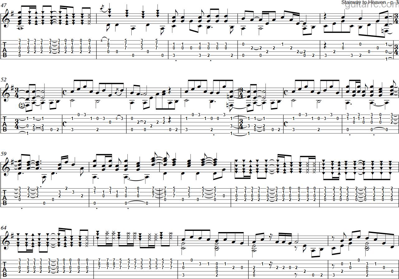 stairway to heaven sheet music guitar pdf