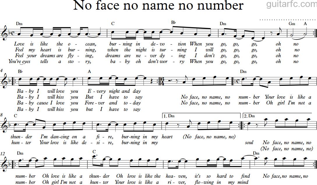 No face, no name, no number   modern talking   lyrics [kara +.