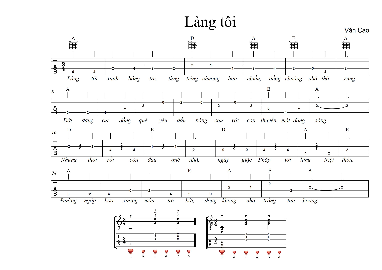 Làng tôi – Văn Cao | GuitarFc.com
