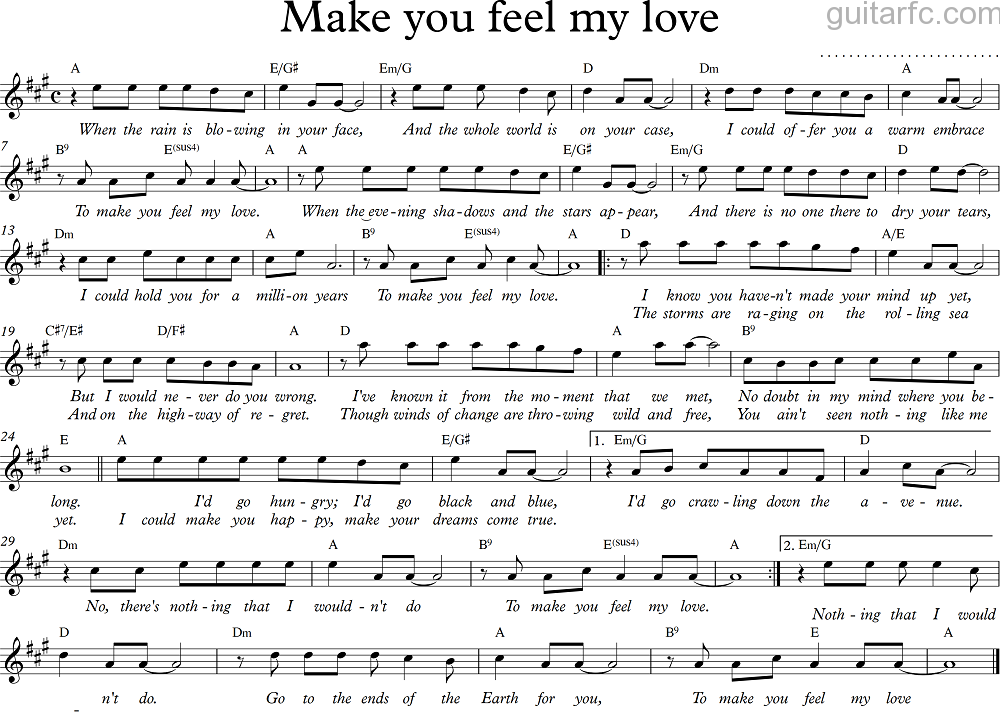 Ballade - Make you feel my love