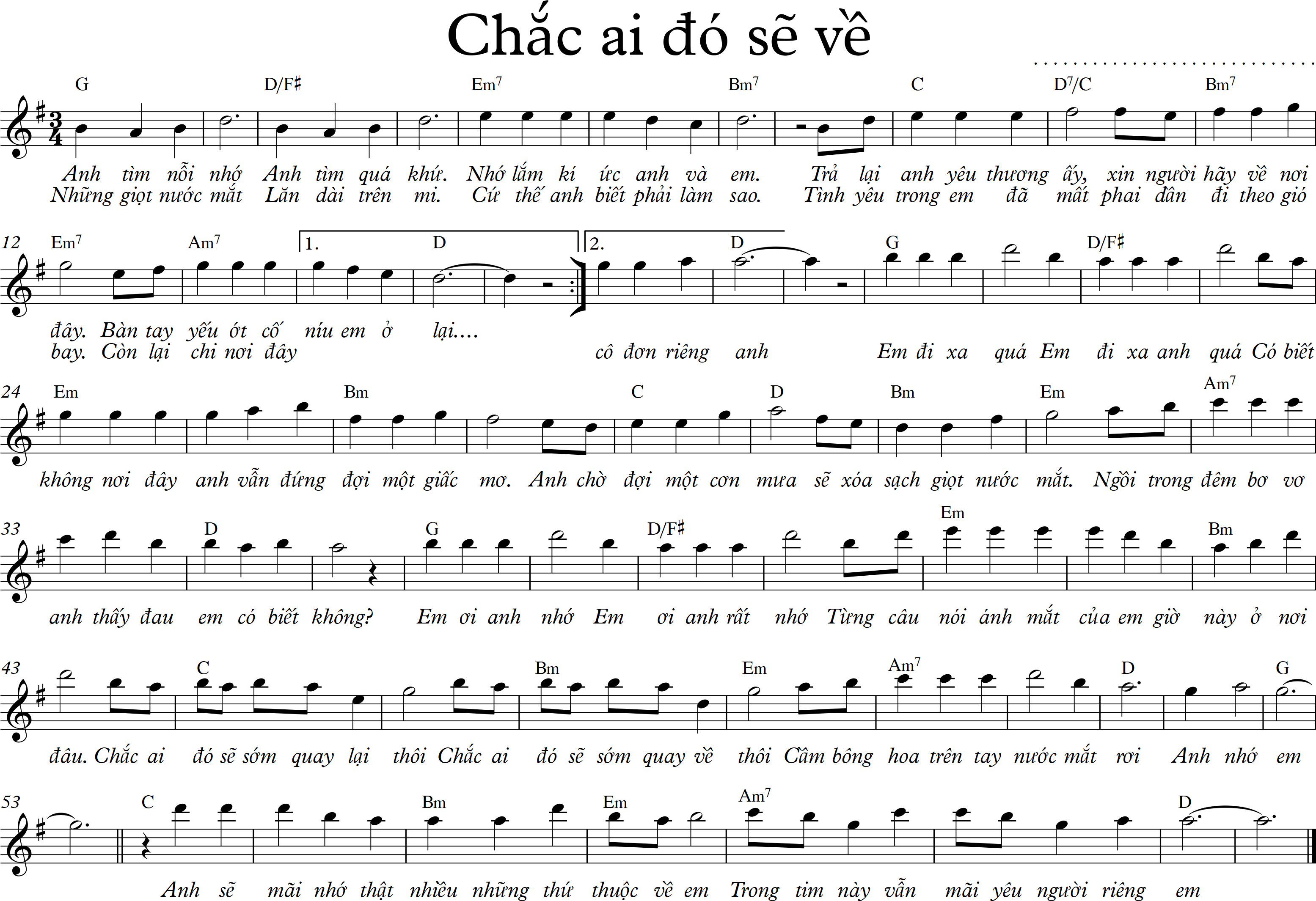 Chac ai do se ve - G