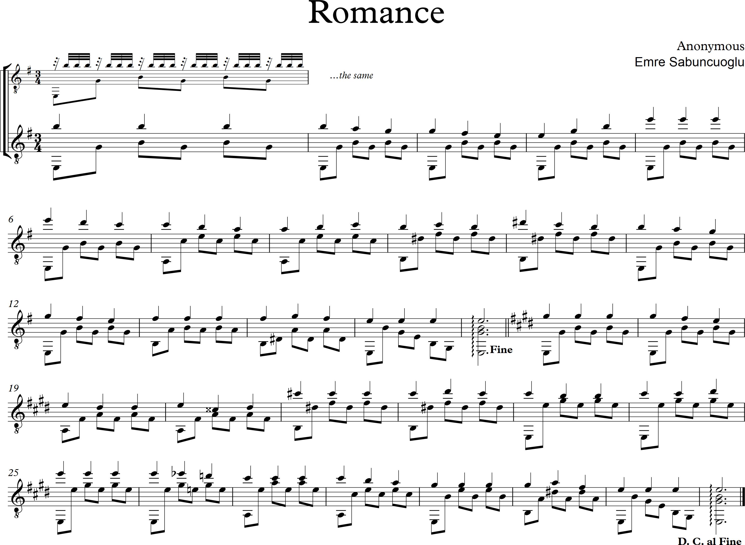 Romance - tremolo