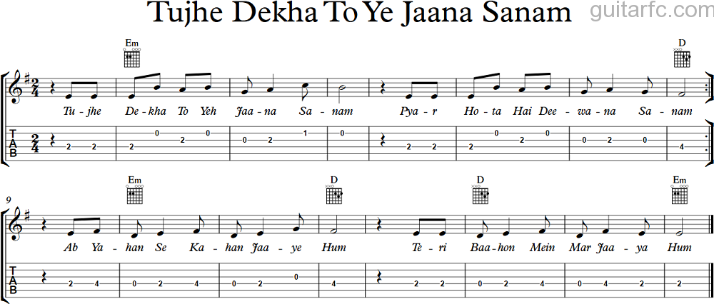 Tujhe Dekha To Yeh Jaana Sanam : New Songs Mp3 Download