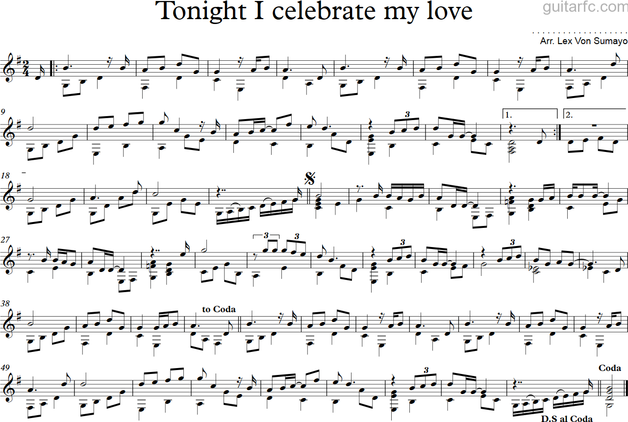 Tonight I celebrate my love