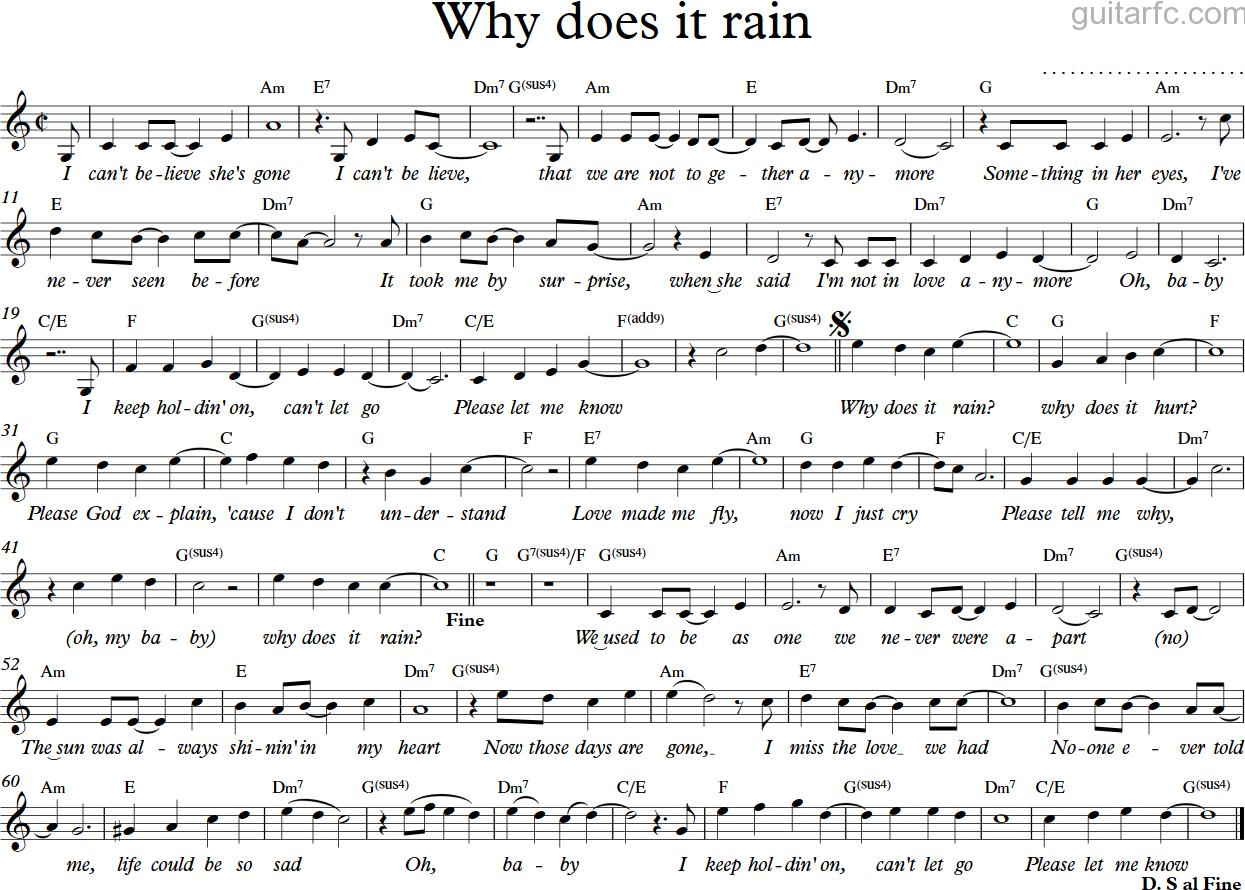 Why does it rain - C