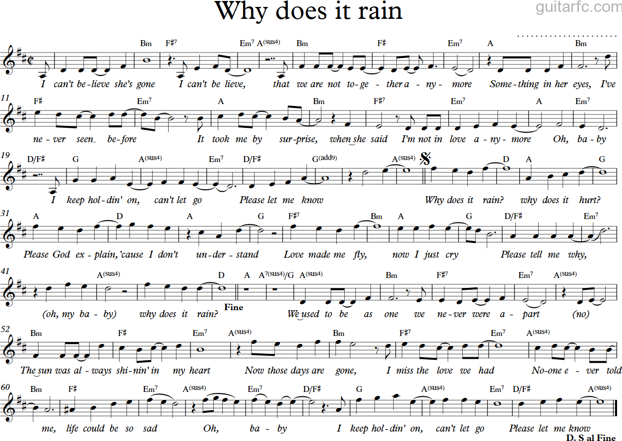 Why does it rain