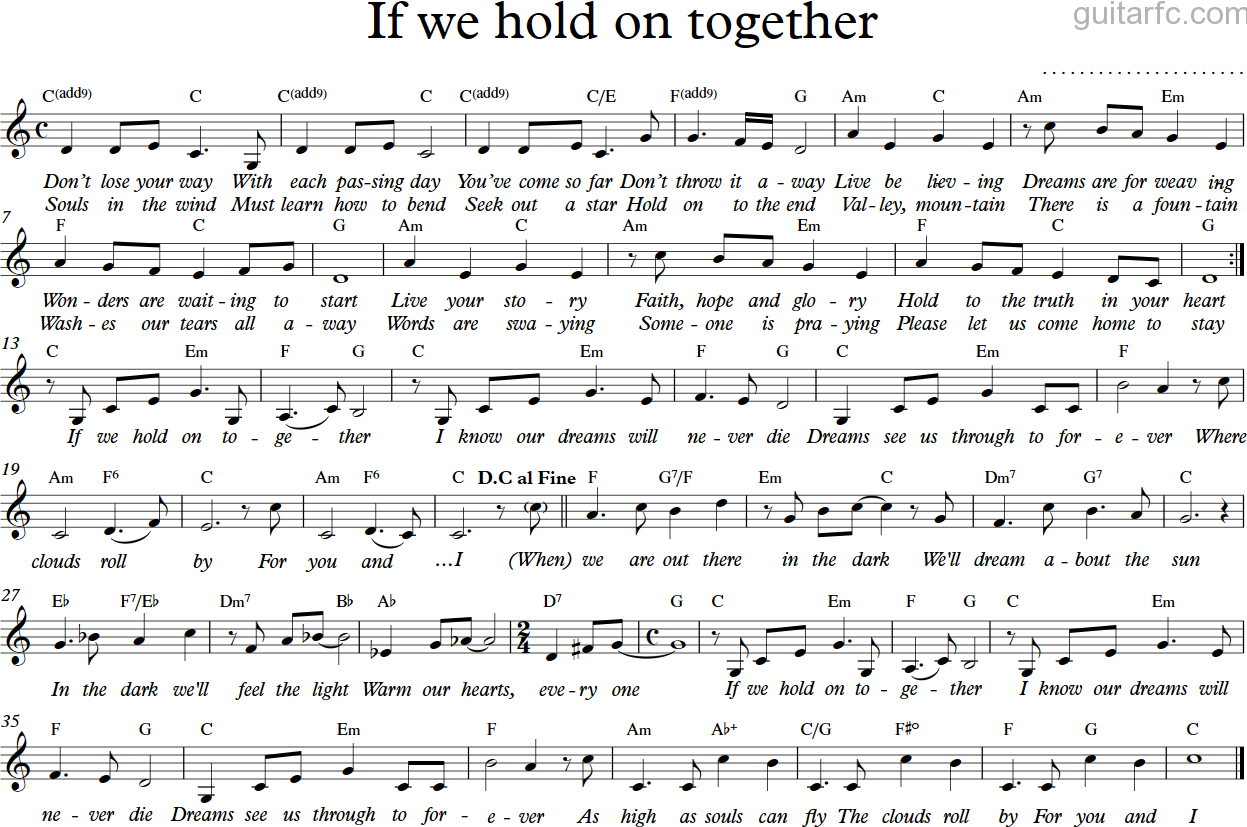 if we hold together