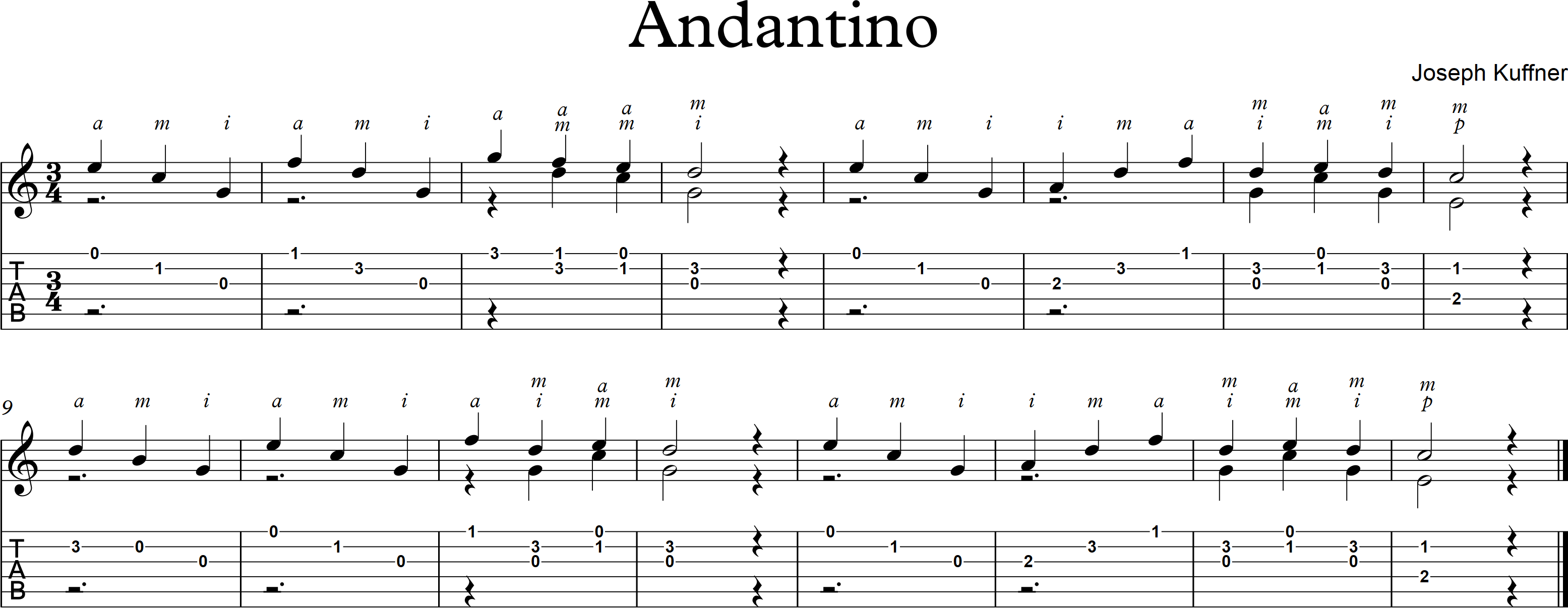 Andantino - Joseph Kuffner