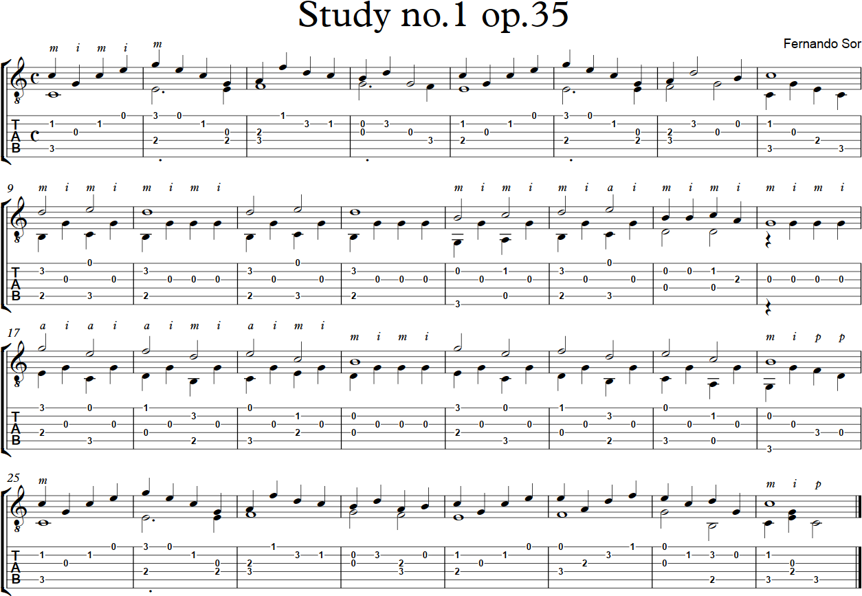 Study no1 op35 - Fernando Sor