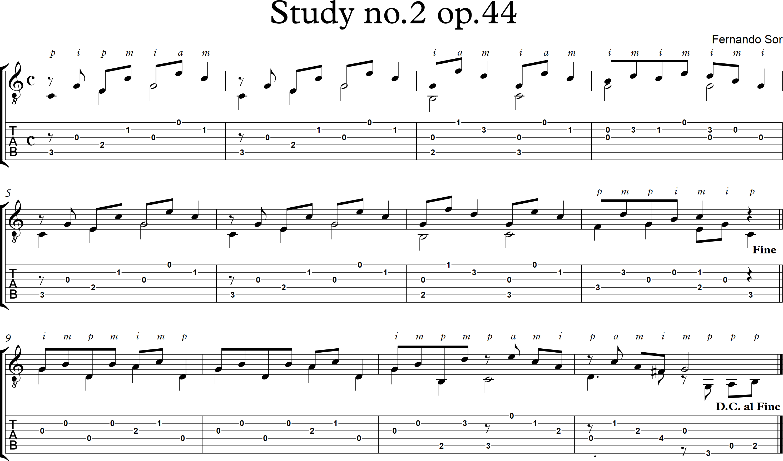 Study no2 op44 - Fernando Sor