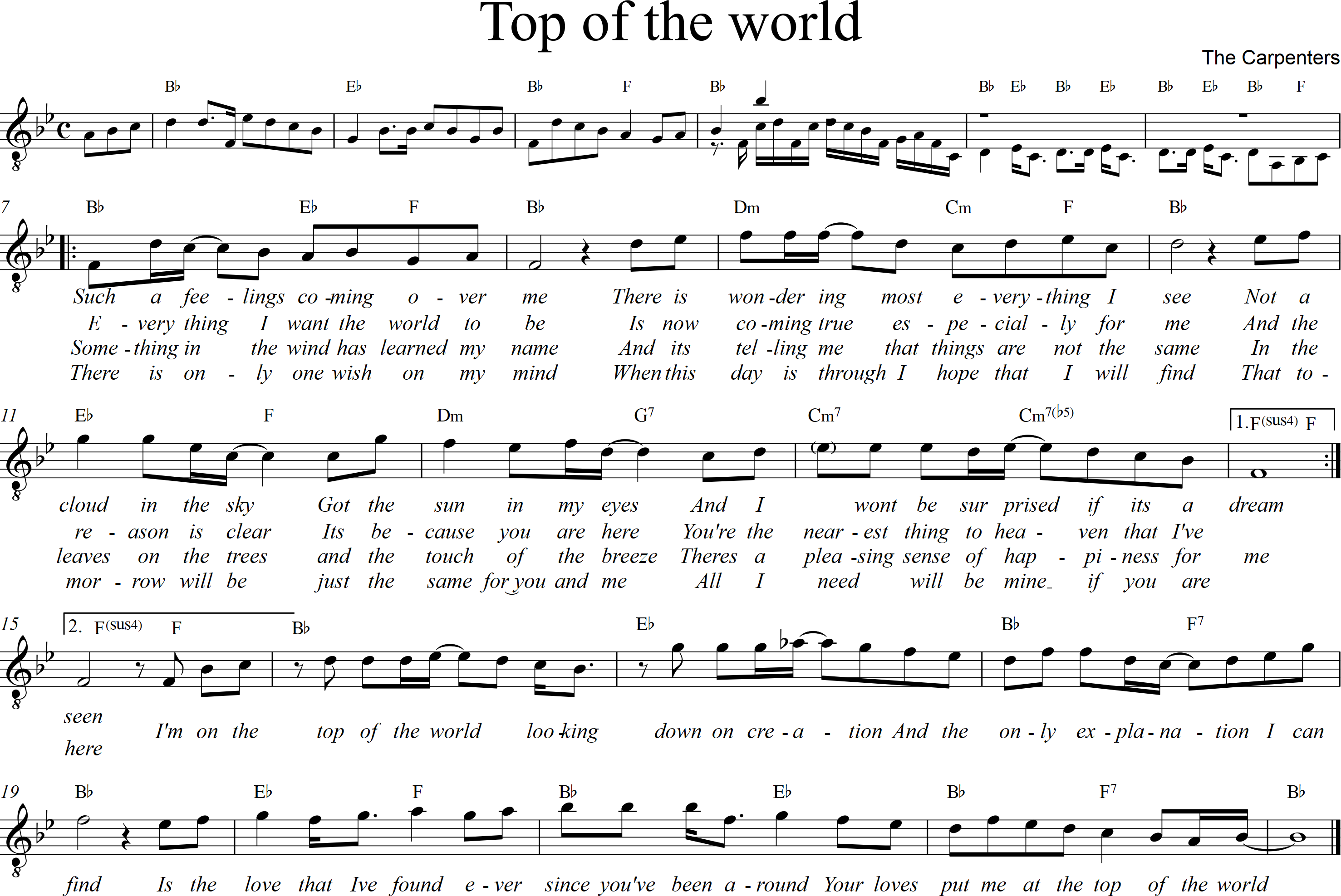 Top of the world - Bb