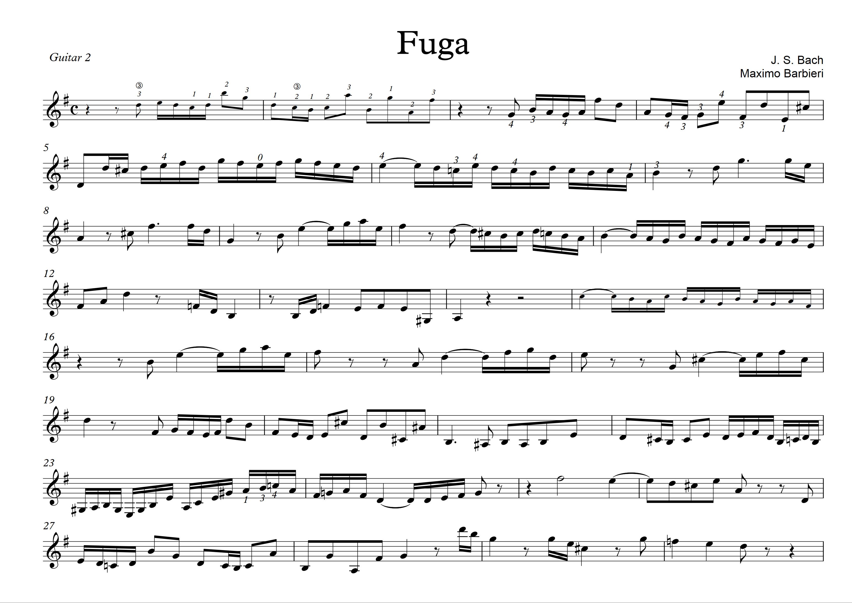 Fuga - Bach - Maximo Barbieri - 2 -1