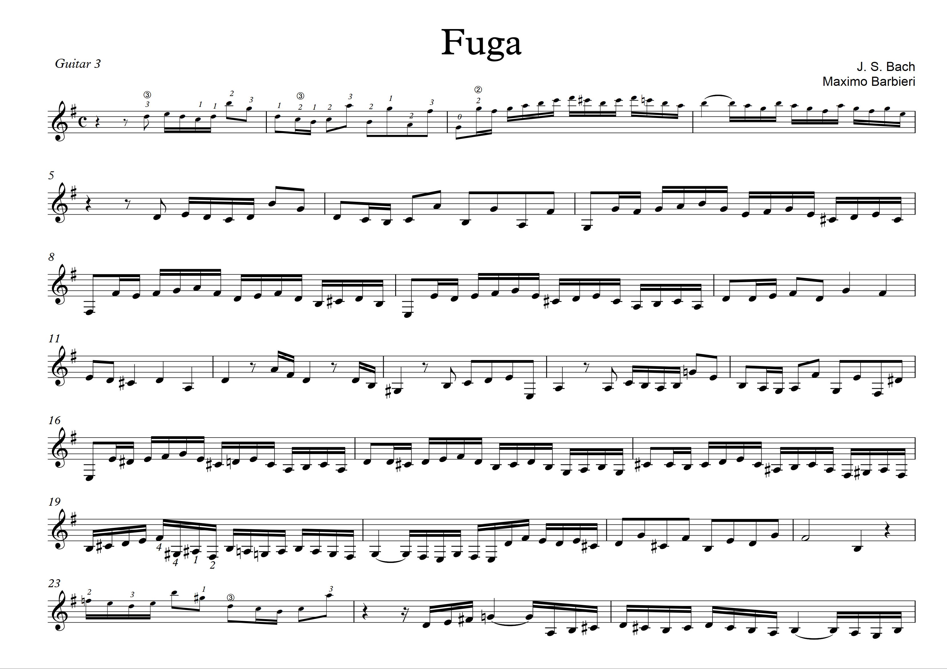Fuga - Bach - Maximo Barbieri - 3 -1