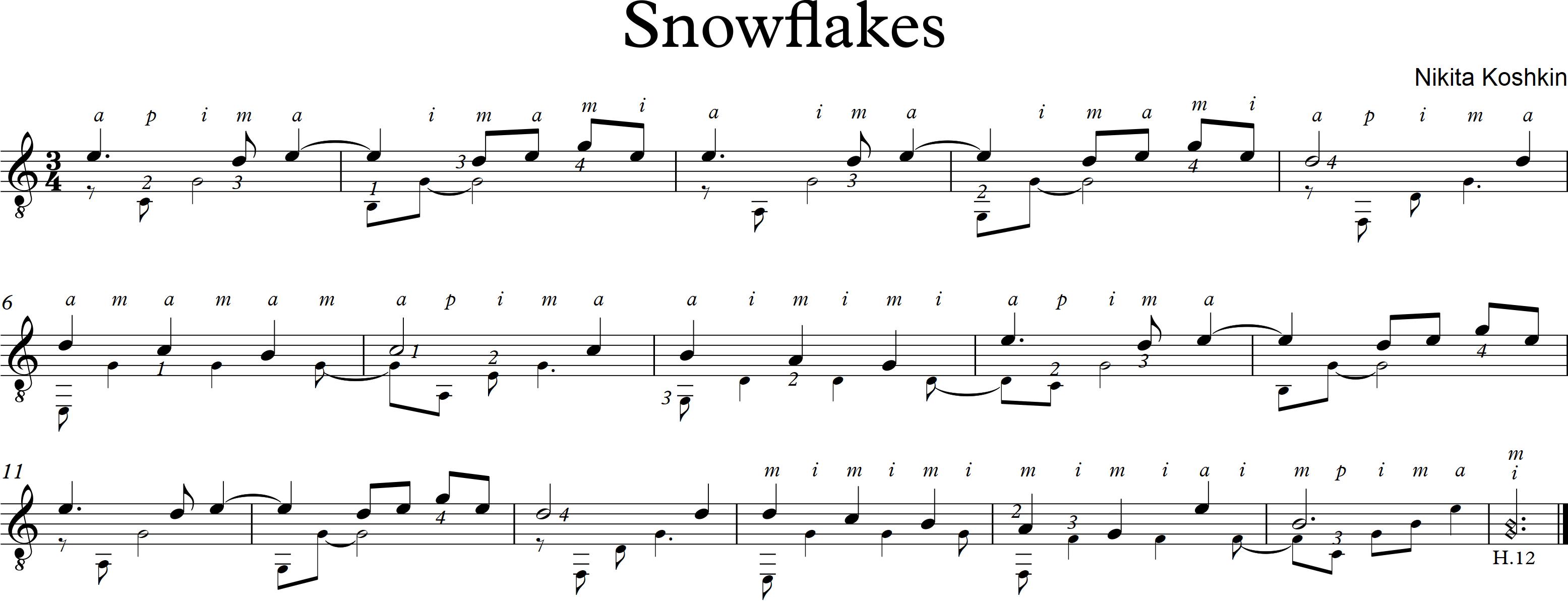 Snowflakes - Koshkin