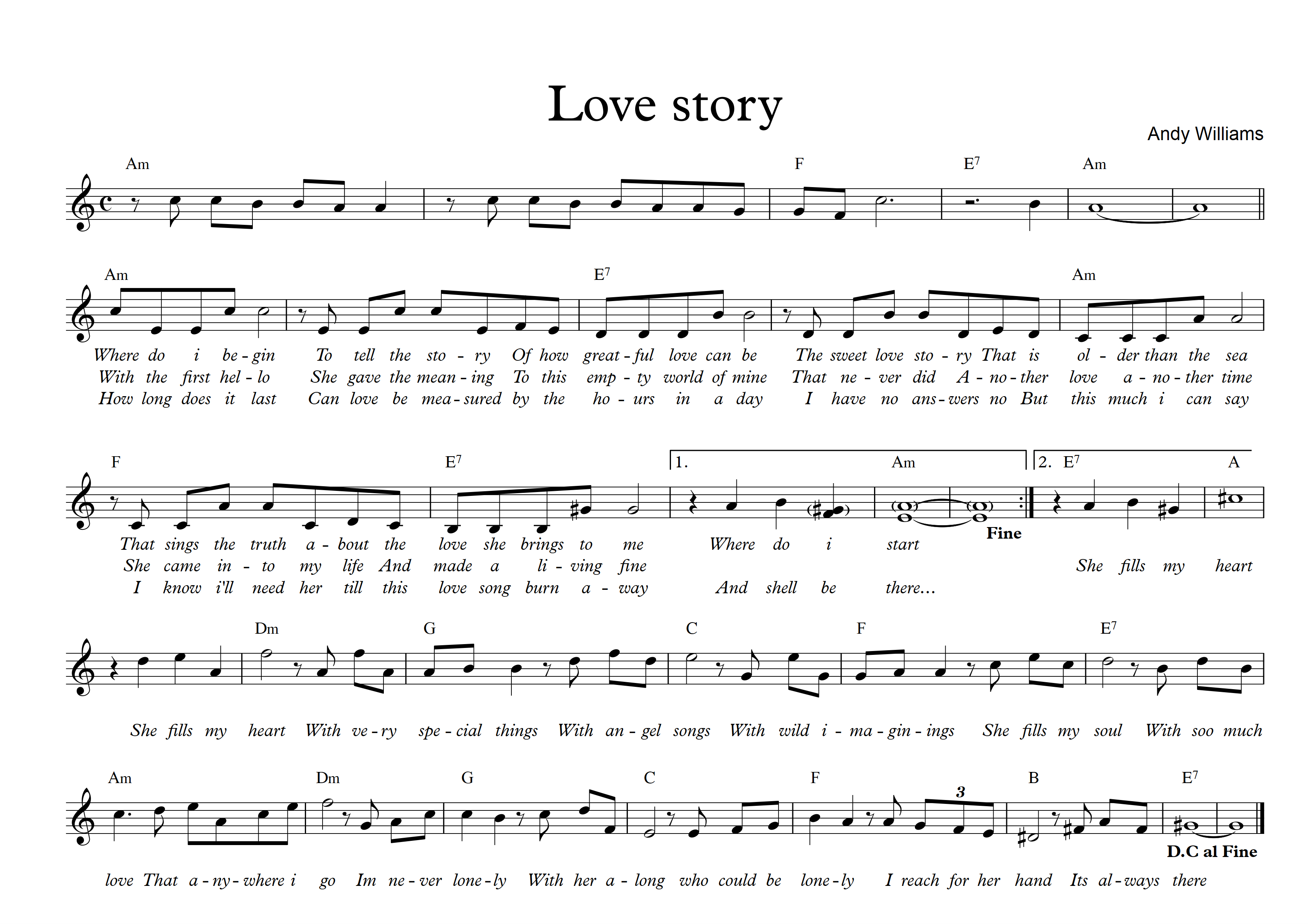 Love story - Am