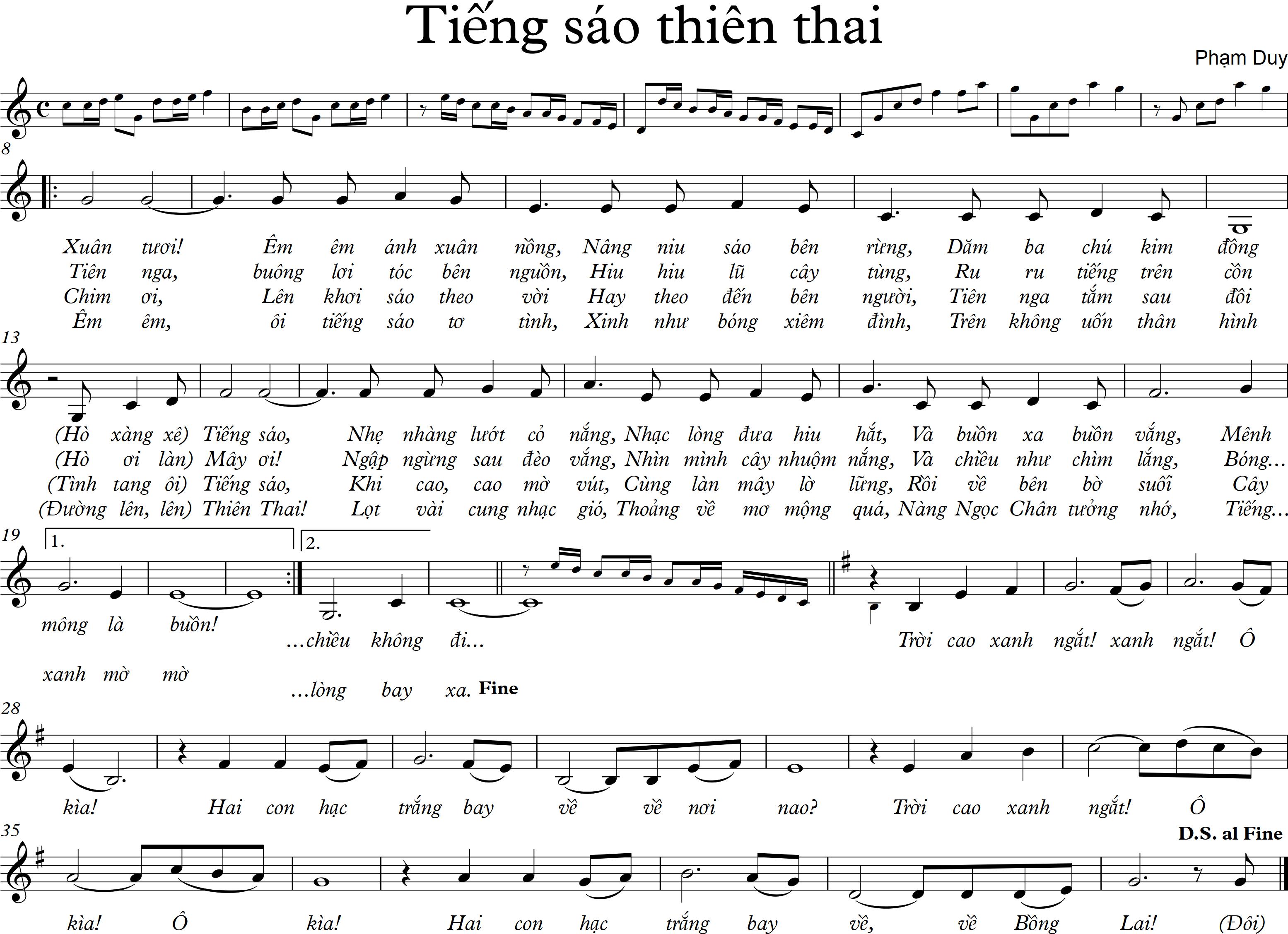 Tieng sao thien thai - no chords