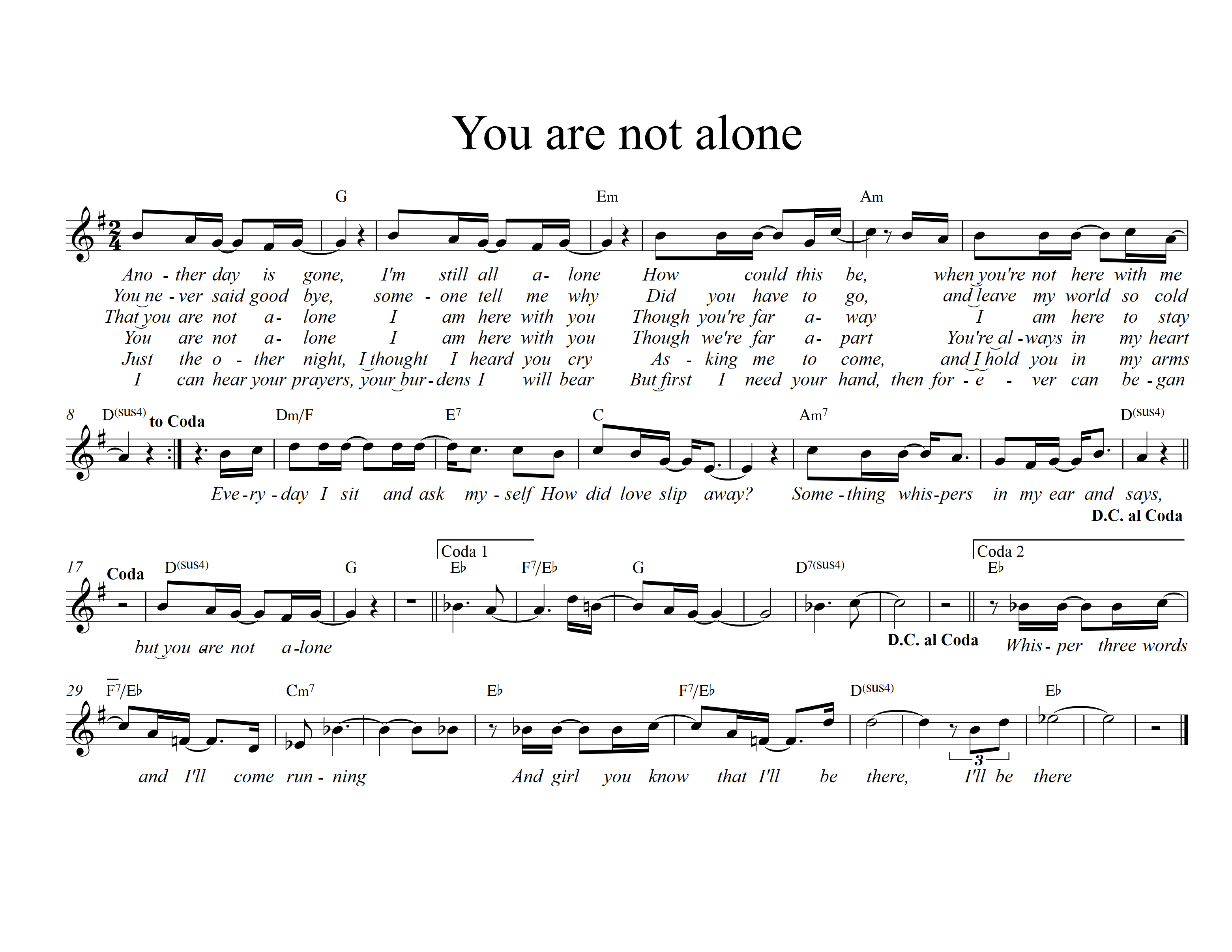 You are not alone - G