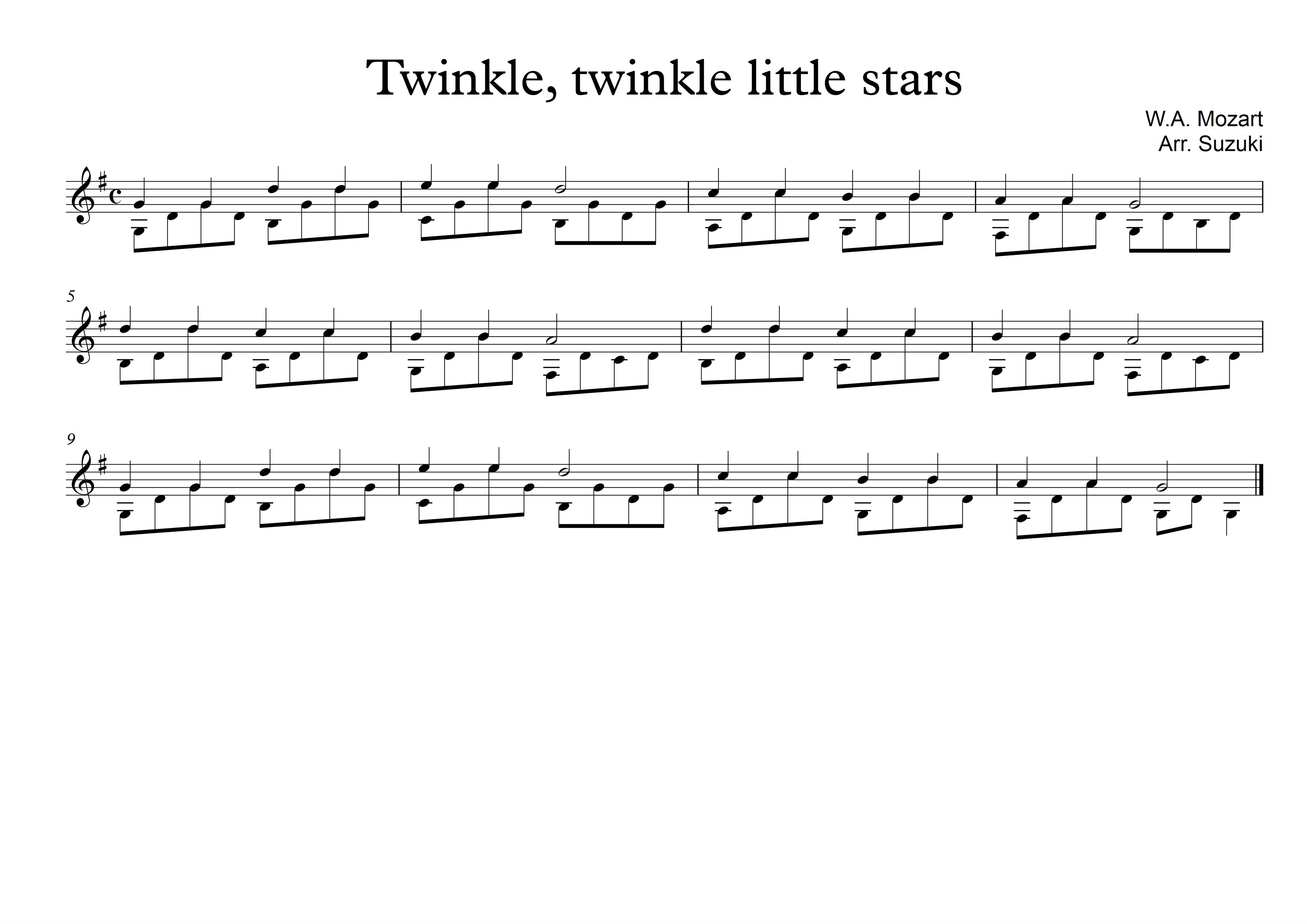 Twinkle little stars